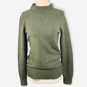 LOFT Sz XS Olive Green Mock Neck Sweater